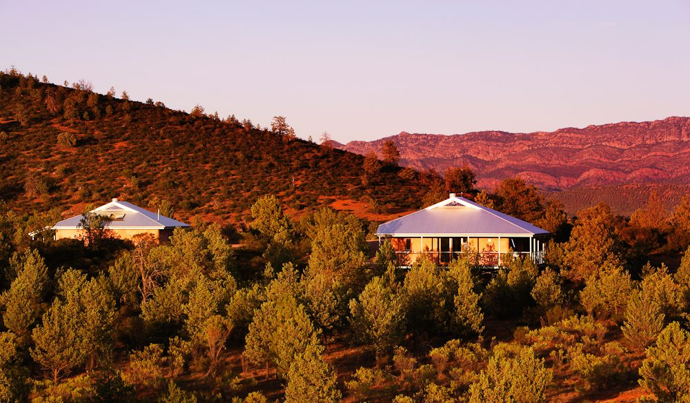 Rawnsley Park Station's deliciously secluded eco villas, Flinders Ranges, outback South Australia.