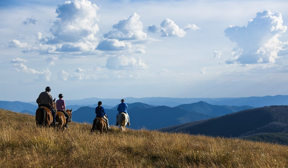 The Family from Snowy River: Horse riding at Mt Stirling, Victoria.