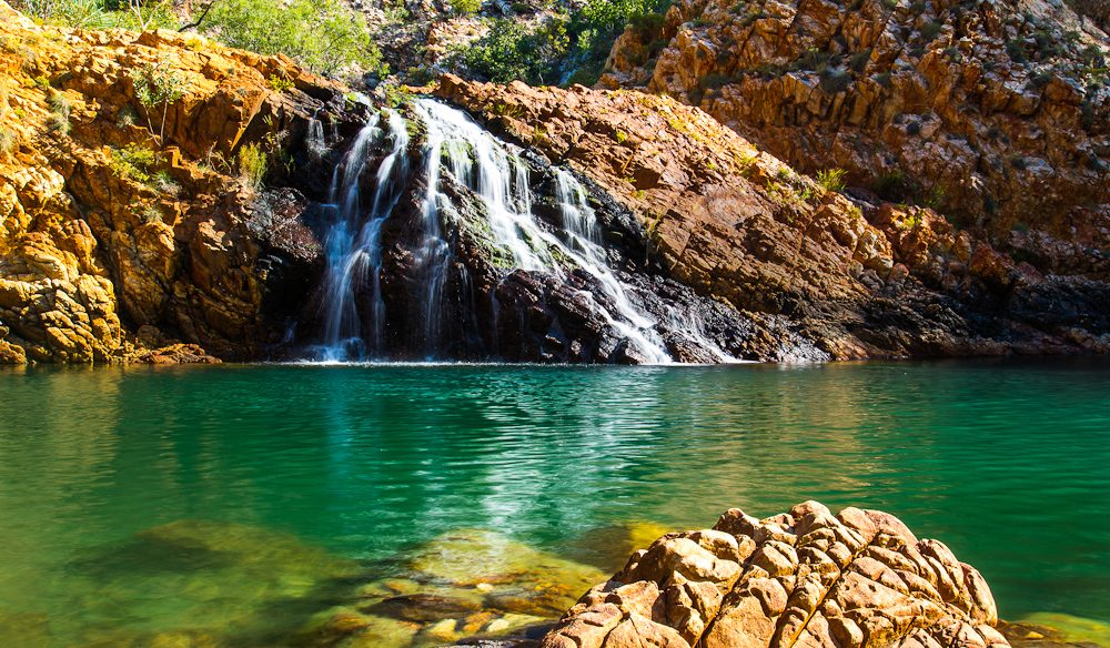 Ironically the waters of Crocodile Creek in the Kimberley are the only waters you can swim undisturbed by crocs