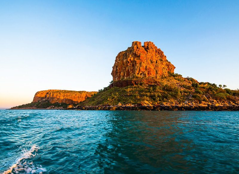 A cruise in the Kimberley in North Western Australia past Steep Island