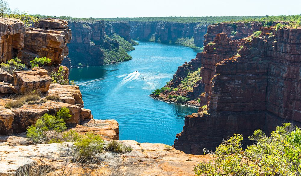 Atop the Kimberley in North Western Australia, a view of the King George Falls