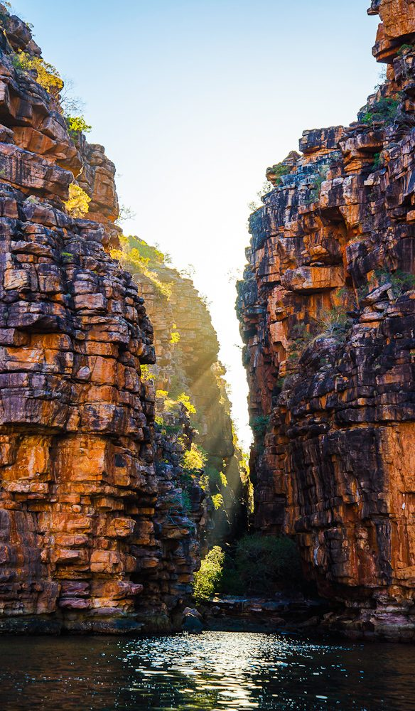 On the way to the King George Falls in the Kimberley, on board the National Geographic Orion