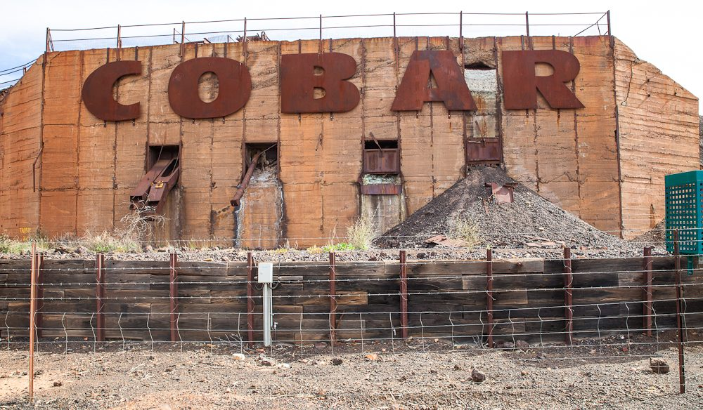 Cobar displays its mining credentials (Photo: Nigel Herbert).
