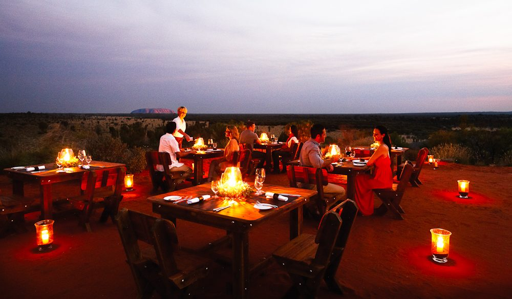 Outback dining room: the Tali Wiru experience, Uluru.