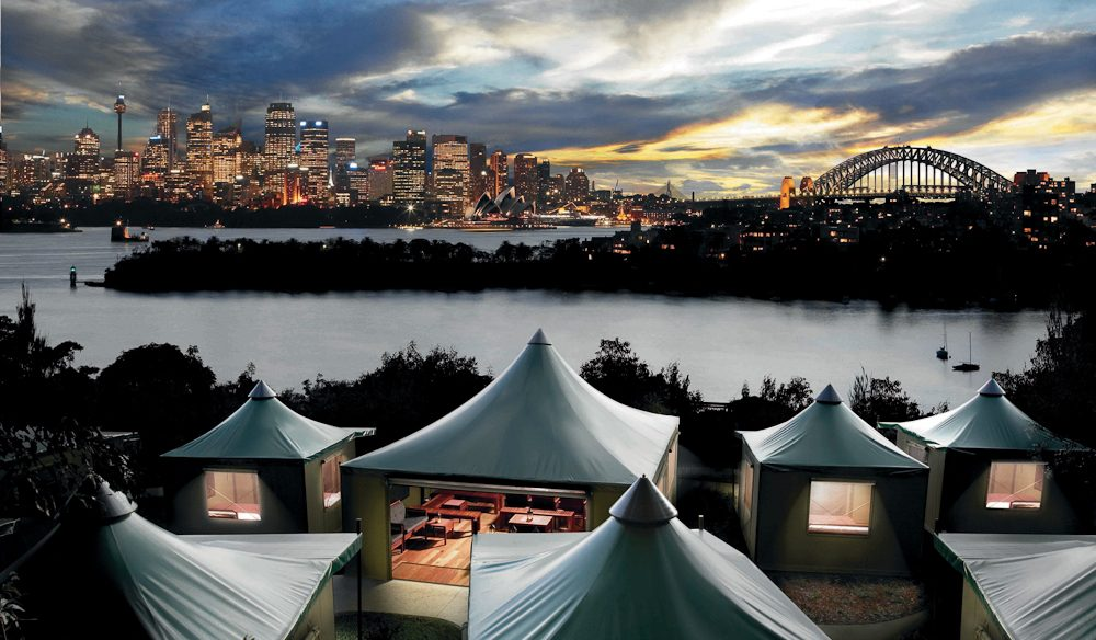 Camping in luxe safari tents in the middle of the wildlife at Taronga Zoo, Sydney - (Roar & Snore).
