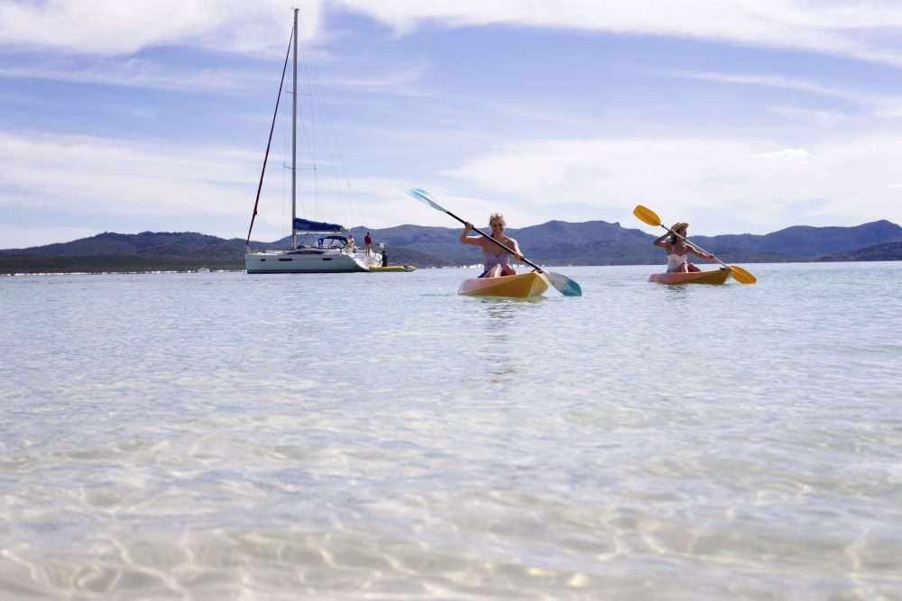 Kayak your own way: Hamilton Island, under your own steam. (photo: Tourism QLD)