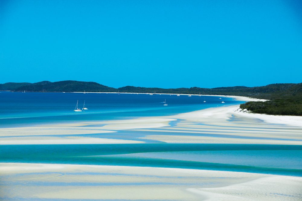 You have to, really, you do: a daytrip to Whitehaven Beach from Hamilton Island (photo: Tourism QLD).