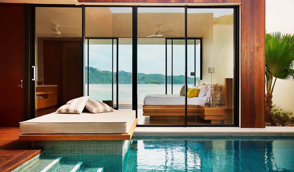 Private plunge pool, Beach Villa, One&Only Hayman Island.