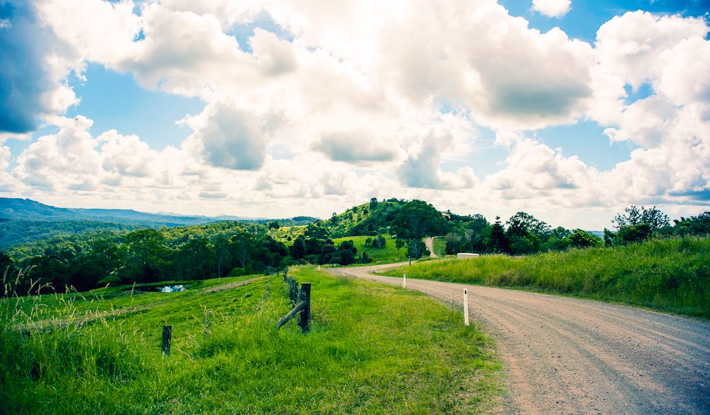 The rolling hills and bo-ho opportunities of the Sunshine Coast Hinterland.
