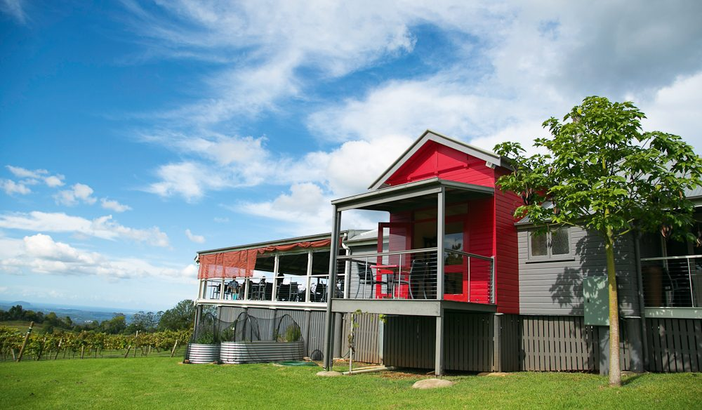 Flame Hill Vineyard, Montville, Sunshine Coast Hinterland - home to a Grape Stomp Festival each February.