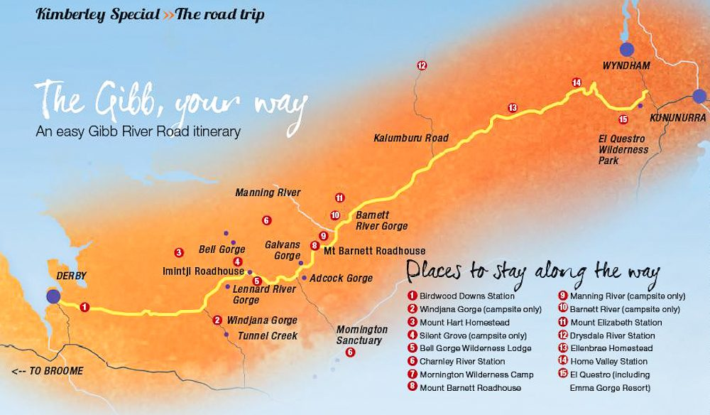 Gibb River Road The Day Easy Itinerary Plus Map - River road map