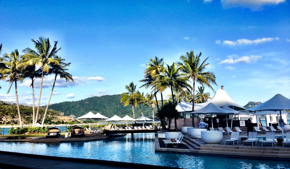 Poolside dining: On The Rocks bar and restaurant, One&Only Hayman Island