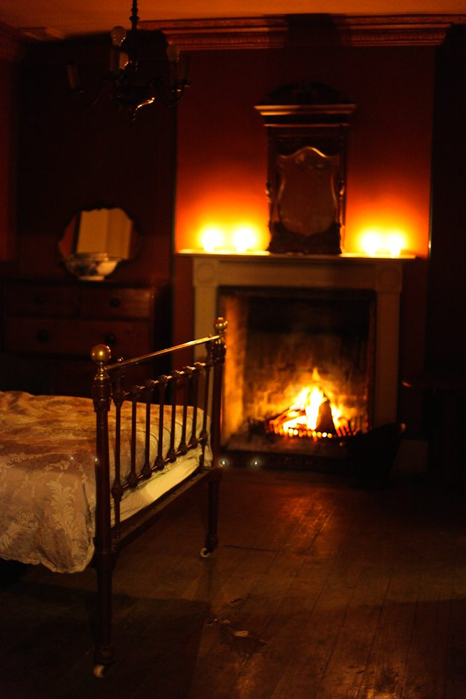 One of the original beds setup inside the old Menangle House, photo by Sam Griffith