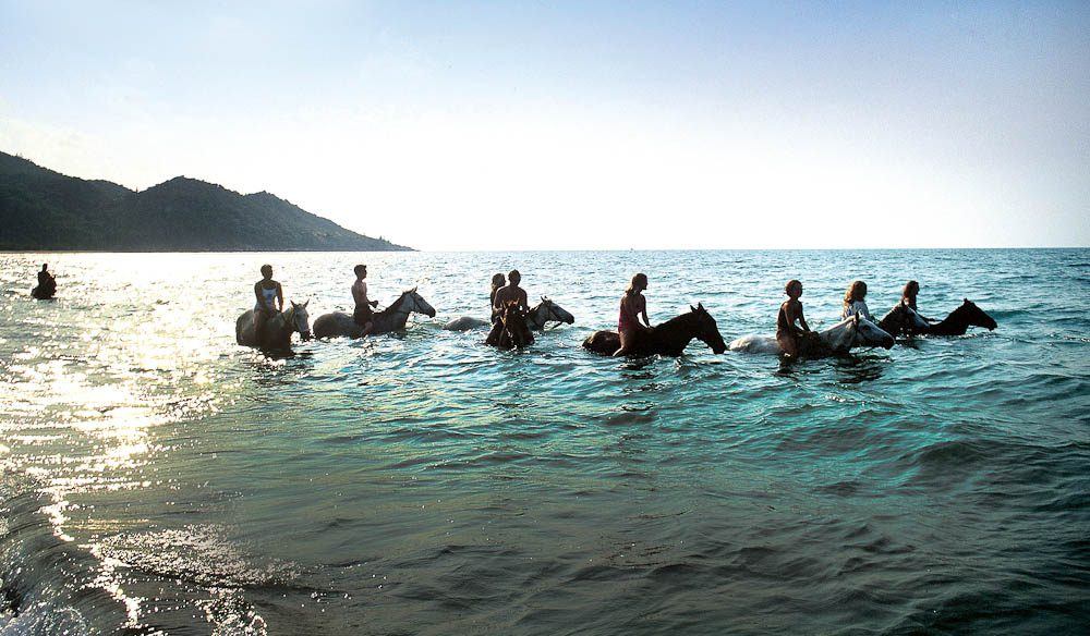 Sea horses? Riding at Horseshoe Bay, Magnetic Island.
