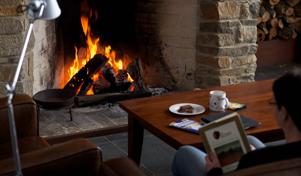 Fireside: Thalia Haven, Great Oyster Bay, Tasmania.