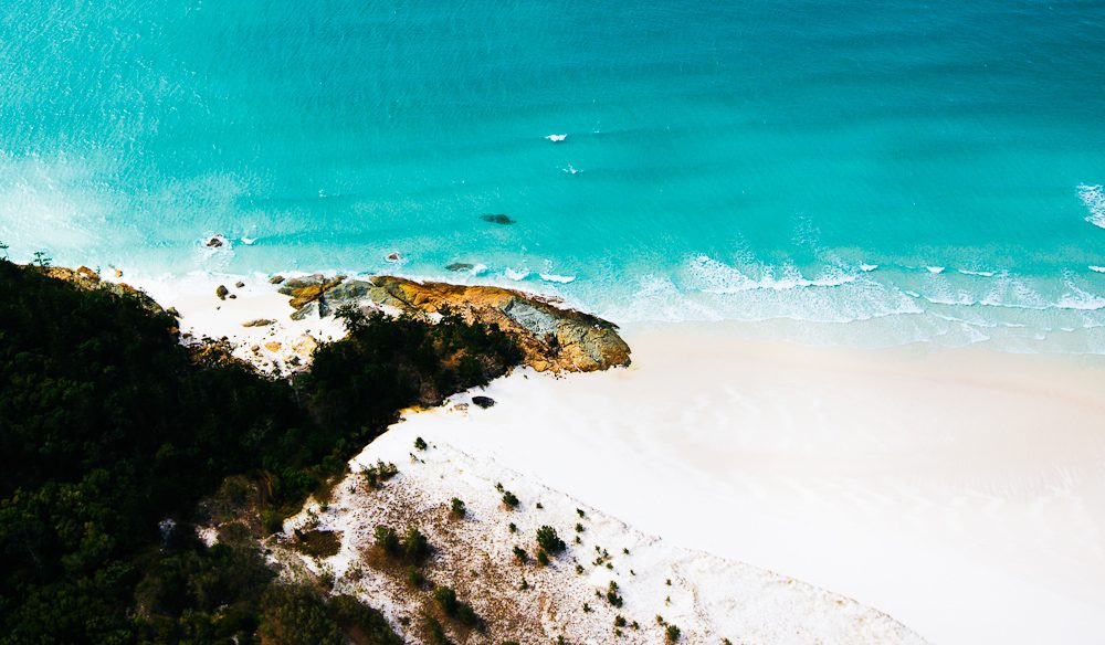 The turquoise Whitsunday water of  Hayman Island.