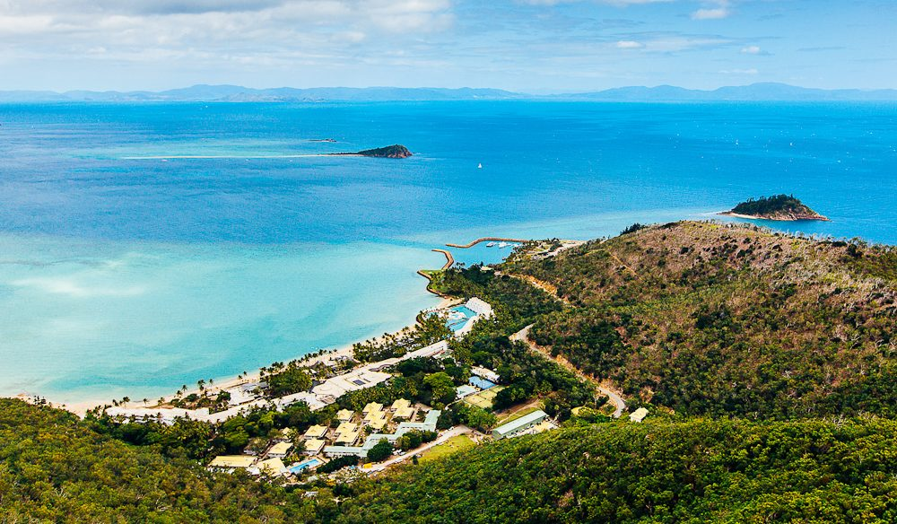 Hayman provides a southward view over the Whitsunday islands