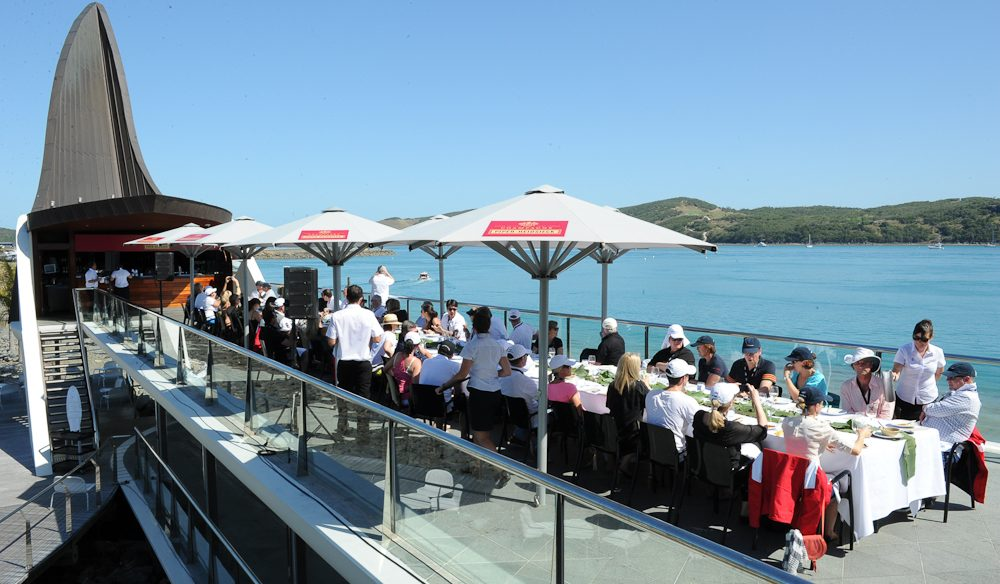Lunch at the Yacht Club with Kylie Kwong, Hamilton Island Race Week.
