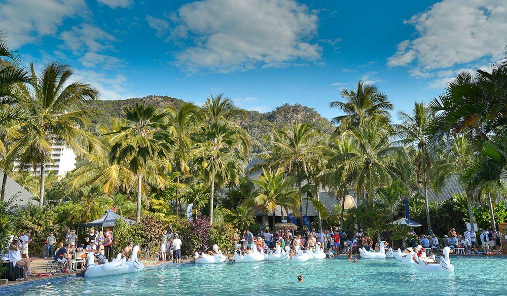 Catseye Beach Pool Party socials, Audi Hamilton Island Race Week.