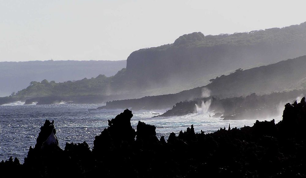 The blowholes here, which puff huge clouds of salt spray into the air between the jagged rocks, make for spectacular sunset viewing.
