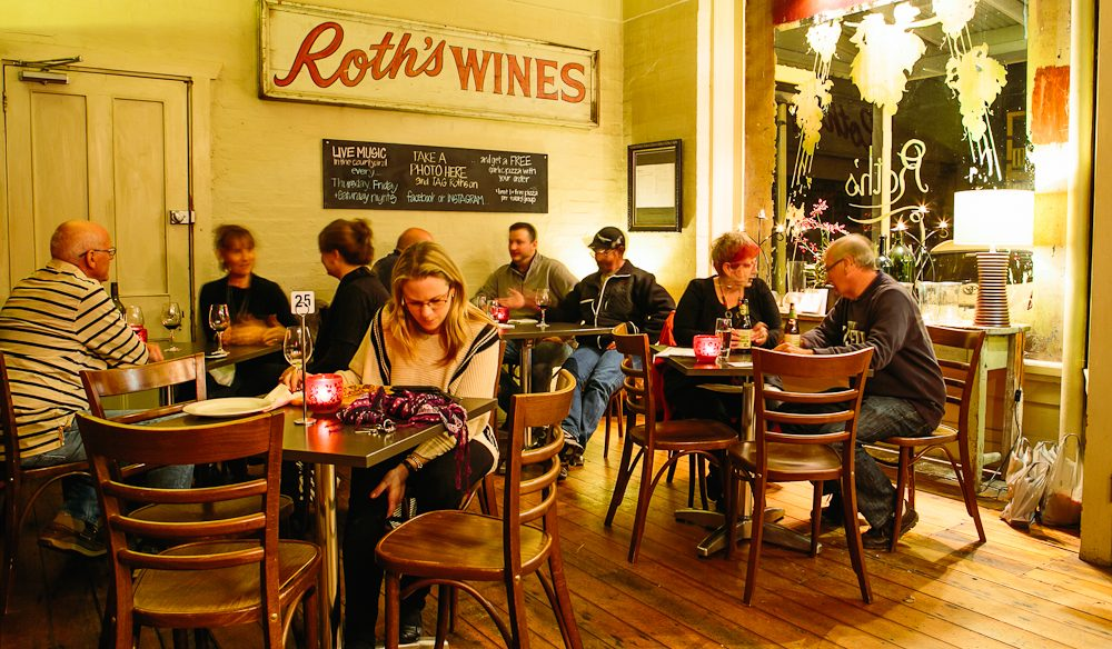 Roth's Wine Bar showcases local talent on its menu of good food and even better wine.