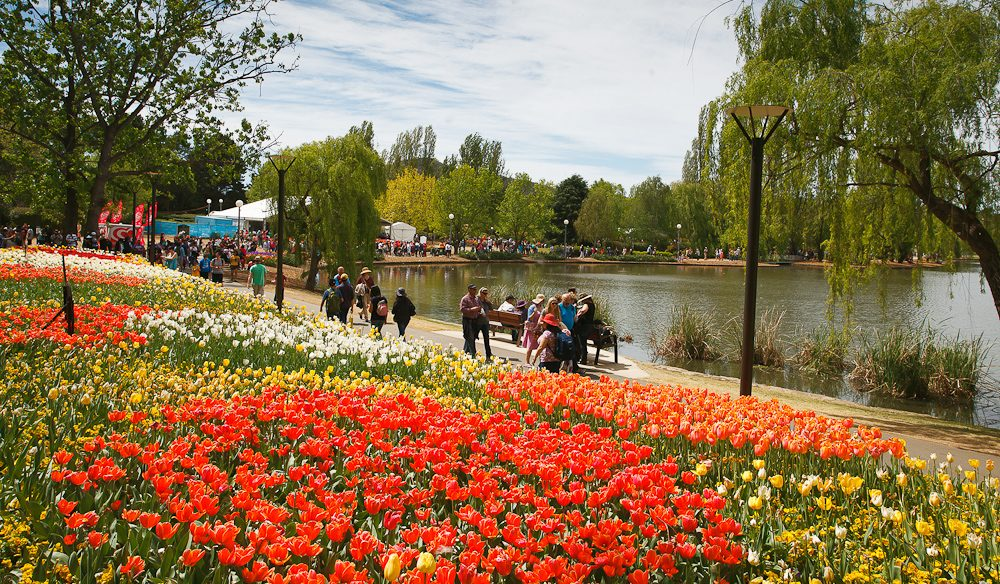 Lakeside walk along the Floriade show display 2013