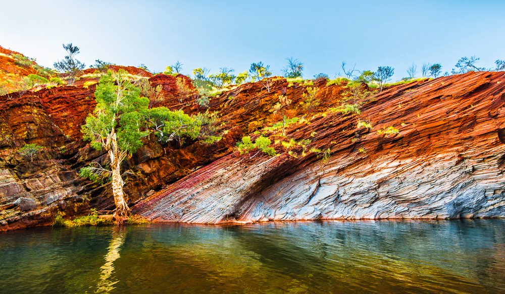 The vibrant Hamersley Gorge, WA.