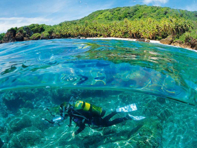 Diving pristine secret scuba spots at Christmas Island (Photo: Justin Gilligan).