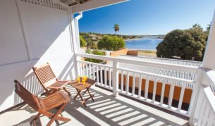 Balcony day - Poolside - Rottnest Lodge, Rottnest Island.