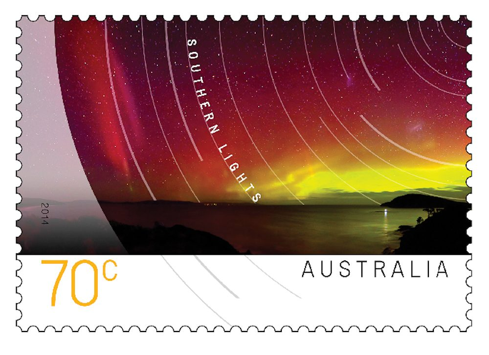 Stampworthy - James Garlick's image of the Aurora Australis.
