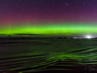 Photographer Matt Glastonbury gets the green light - of the Aurora Australis.