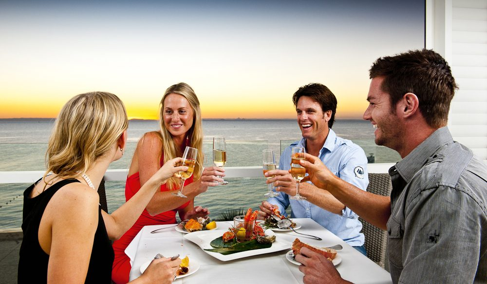 Food and friends - Tangalooma Island Resort, Moreton Island Resort, Queensland.