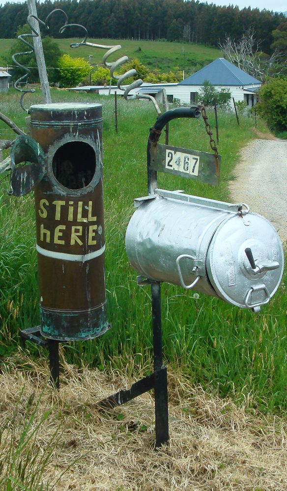 5. Wilmot Tasmania. About 50 elaborate letterboxes adorn the roadside into and out of Wilmot as a tourist drawcard. The whole town seems to compete for the funkiest box.