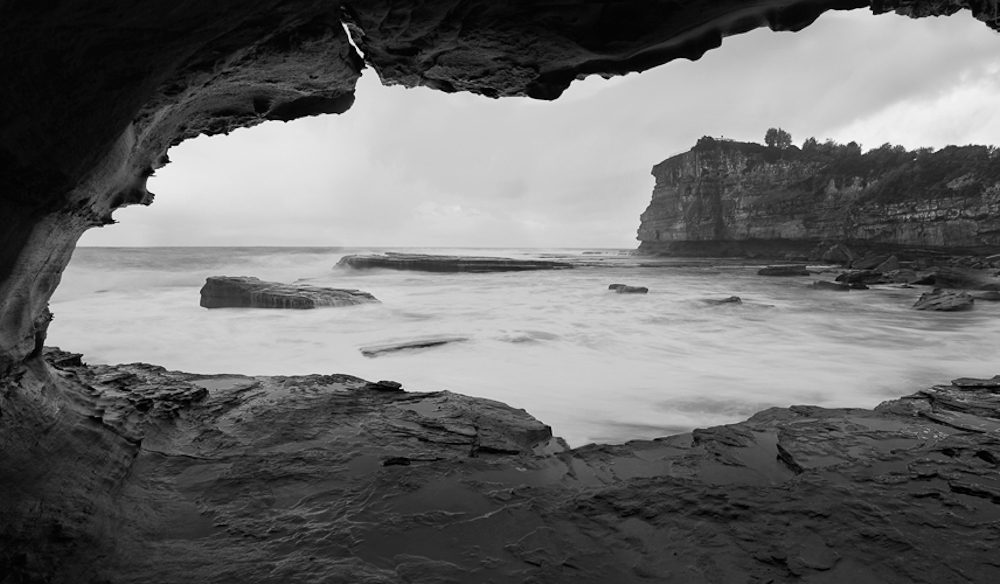 Squeezing into this cave near The Skillion, NSW Central Coast, meant I captured a great photo no-one else did. I also escaped the rain (photo: Daniel Hine).