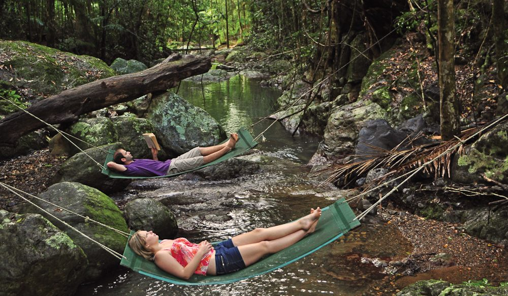 Rainforest recline: Crystal Creek Rainforest Retreat, Murwillumbah.