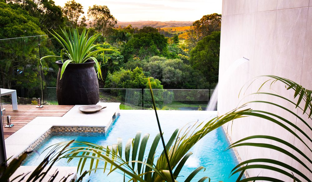 Private pool is cool - Gaia Retreat, Byron Bay.