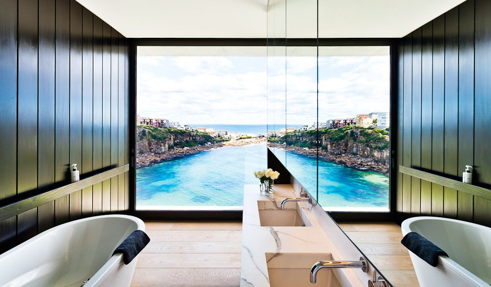 P.O.A for this elegant holiday house overlooking Sydney's Gordon's Bay (photo: Robert Walsh).
