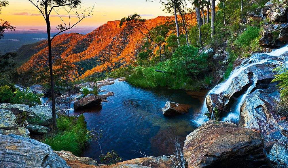 Two Mile Falls atop Blackdown Tableland, central Queensland (photo: Mitchell Burns).