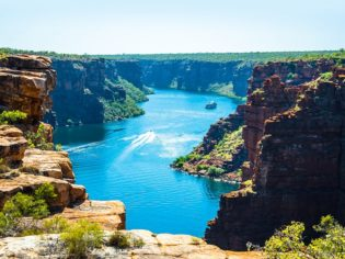 Atop Kimberley's King George Falls - still our reader's overall fave.