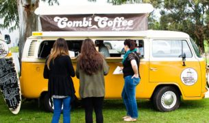 Combi coffee refuelling Margaret River market goers.