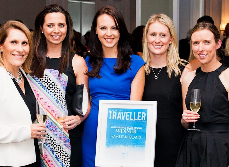 The victorious Hamilton Island team - Sophie Baker, Katie Cahill, Melissa Kesby, Jessica Freeman, Kelsey Hodges.