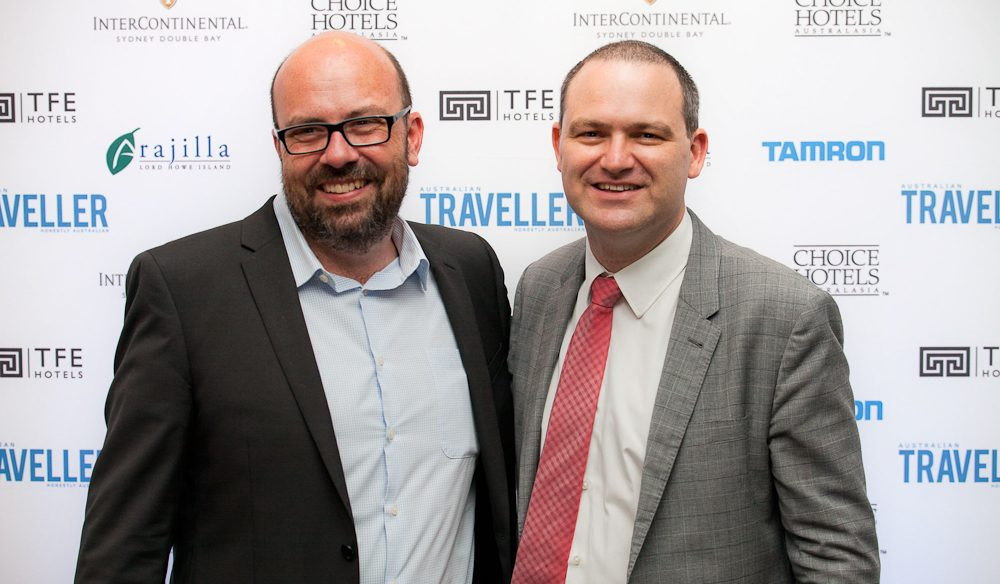 Co-founders of Australian Traveller Media Nigel Herbert and Quentin Long.
