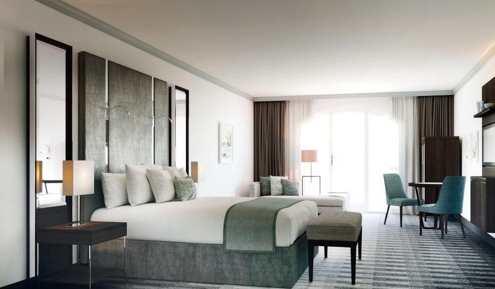 Typical room in InterContinental Sydney Double Bay - plush, serene without being overly memorable.