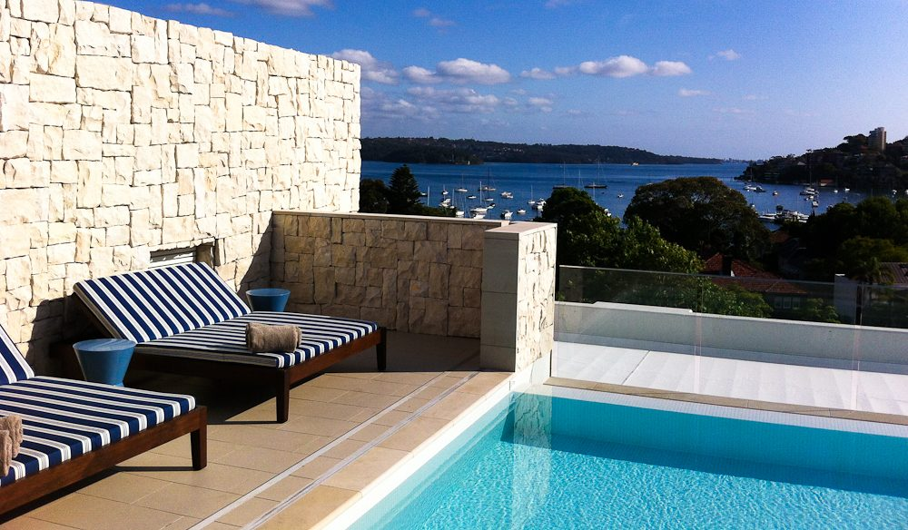 Pap-free pool nook, InterContinental Sydney Double Bay.