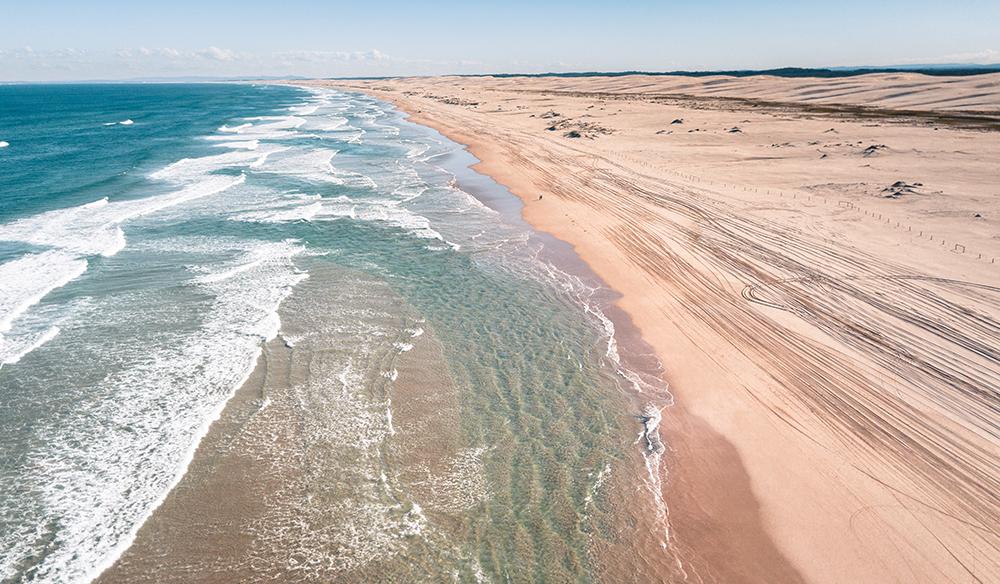 Port Stephens wild dunes and coastline
