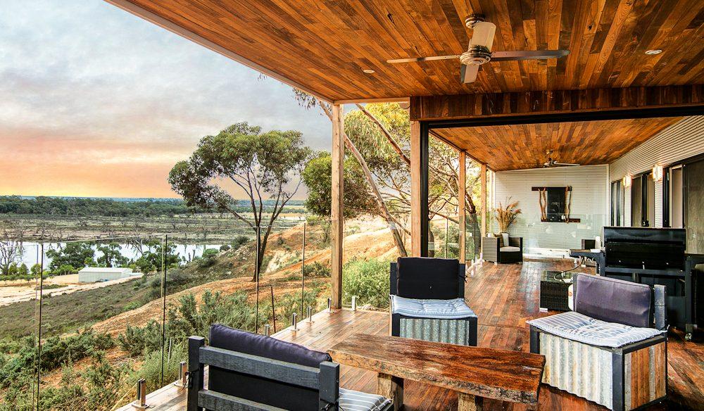 On deck: Pike River Eco Lodge, Lyrup, South Australia.
