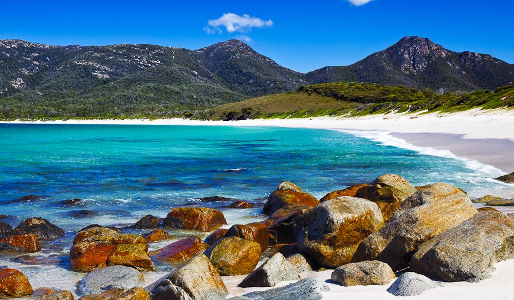 Exquisite Wineglass Bay, just one of the reasons Tasmania is among Australian Traveller's 10 hottest travel destinations for 2015.