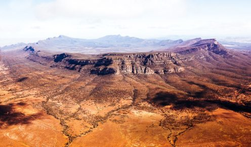 Icon from above: Wilpena Pound, the heart of the Flinders Ranges (photo: Elise Hassey).