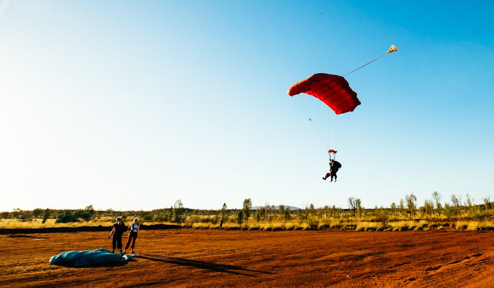 Skydiving Uluru - is this the best way to see the rock (photo: Elisse Hassey).