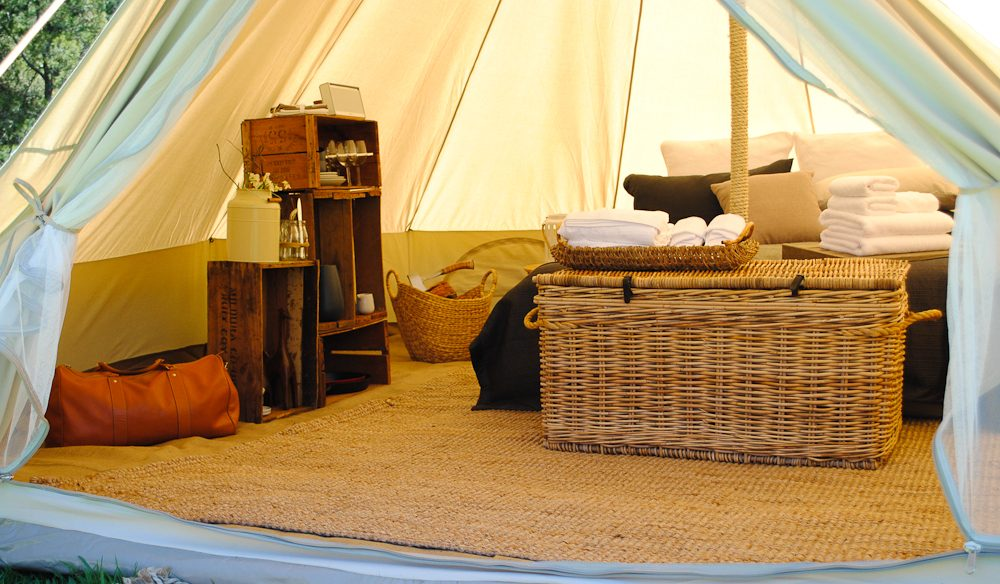 Cosy Tents gl&ing in Daylesford - think 1200-threadcount linen and wood-fired stoves & 5 quirky Victorian glamping sites - Australian Traveller